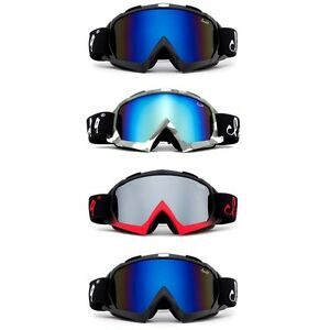 """Gorilla"" Men Snow Ski Goggles Anti-Fog Dual Lens UV400 Snowboarding with Pouch"