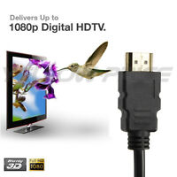 1.5ft 1080p Full Hd V1.4 Hdmi Male To Male Cable Gold Plated For Hdtv Xbox Ps4