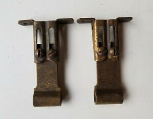 2 Vintage Swing Arm Curtain Rod Hardware Metal Mounting ...