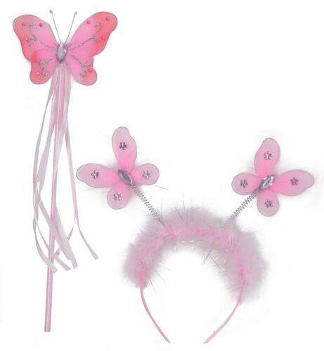 Elfen-Set Schmetterling rosa Feenstab Haarreif Karneval Fasching 129320913