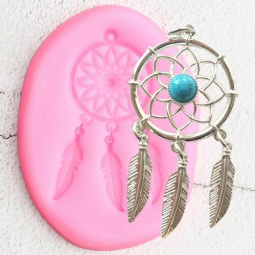 Feather Jewelry Silicone Mould Leaf Flower Pendant Fondant Mold Cake Decoration