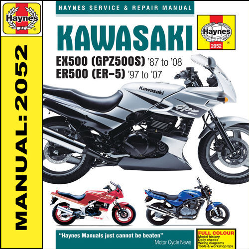 haynes manual kawasaki ex500 gpz500s twins 1987 to 1993 ebay rh ebay com kawasaki ex500 repair manual pdf Kawasaki EX500 Airtech