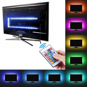 1-2-3-4M-USB-LED-STRIP-LIGHTS-TV-BACK-RGB-COLOUR-CHANGING-REMOTE-CONTRO