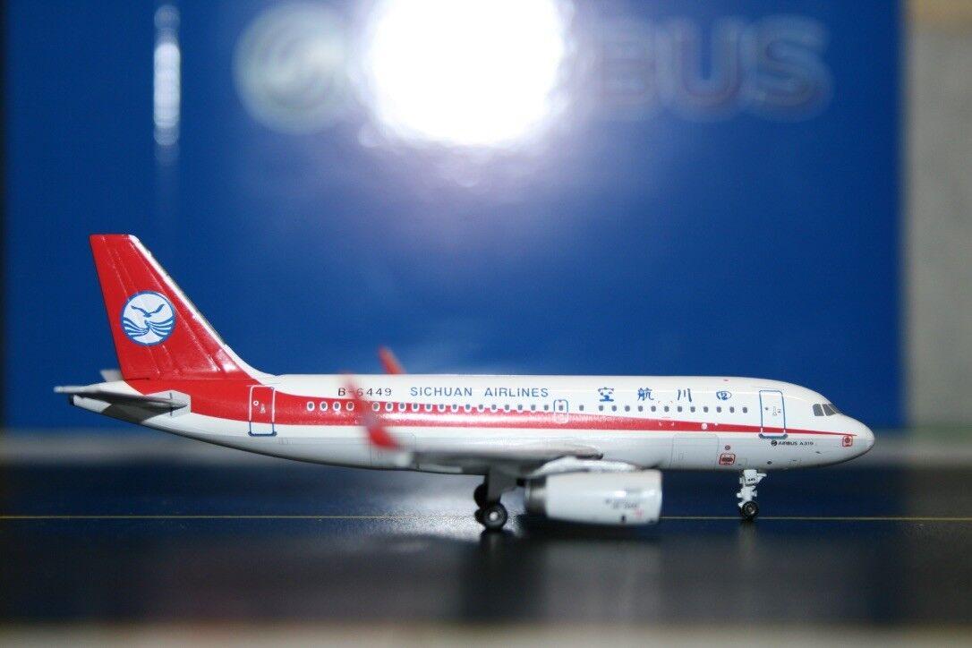 Panda Model 1 400 SiChuan Airlines Airbus A319-100 B-6449 (PM-B-6449) Die-Cast
