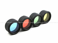 SpiderFire Red Green Blue Yellow Filter Len Cover For SureFire WF501B Torch A025