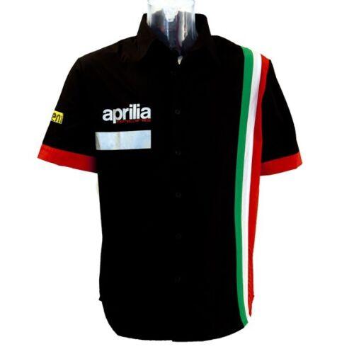 New Official Aprilia Team Black Shirt 2014