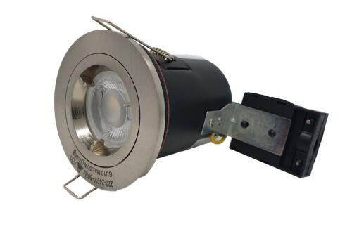 10 Twist Lock GU10 Fire Rated Recessed Ceiling Downlight Spotlight Fixed or Tilt