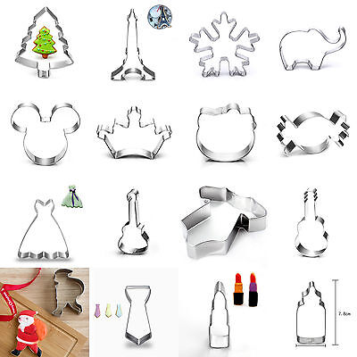 Xmas Stainless Steel Cookie Cutter Biscuit Jelly Party Fondant Cake Mold