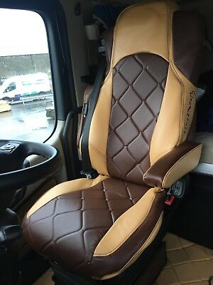 TRUCK SEAT COVERS MERCEDES Seats Covers For Mercedes Actros MP4 red /& black