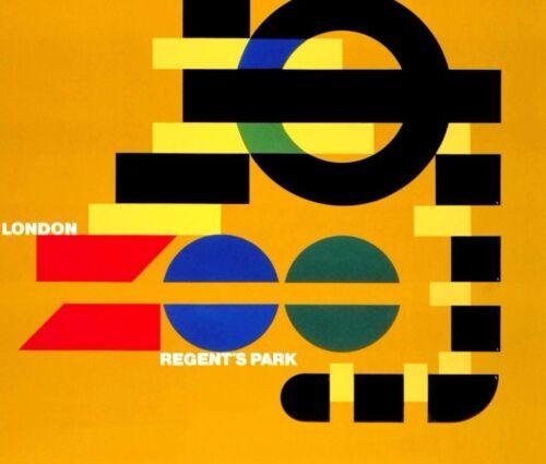 Regents Park 1976 Zoo London England Vintage Poster Print London Underground