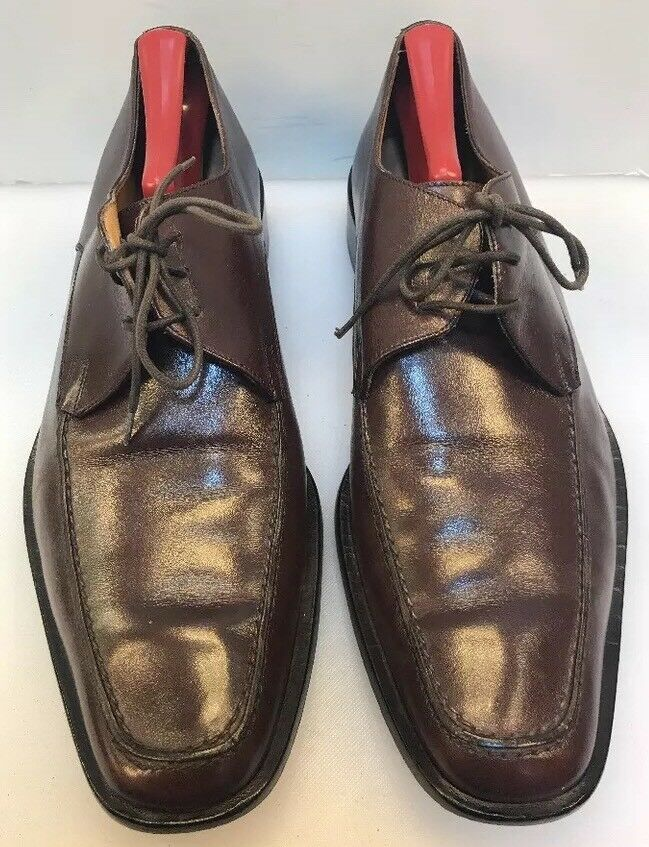 prendi l'ultimo Bally Uomo 10.5 E E E US Tames Oxfords Marrone Leather Moc Toe  Made  prezzo all'ingrosso