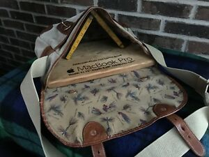 VINTAGE-BATTENKILL-CANVAS-amp-LEATHER-FLY-FISHING-MESSENGER-BRIEFCASE-BAG-R-698