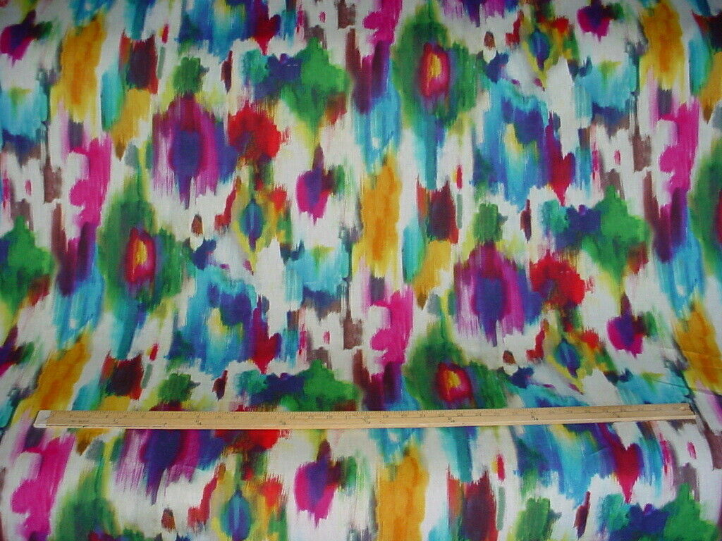 6 1//8 yards of Kravet Ikat design upholstery fabric r2503