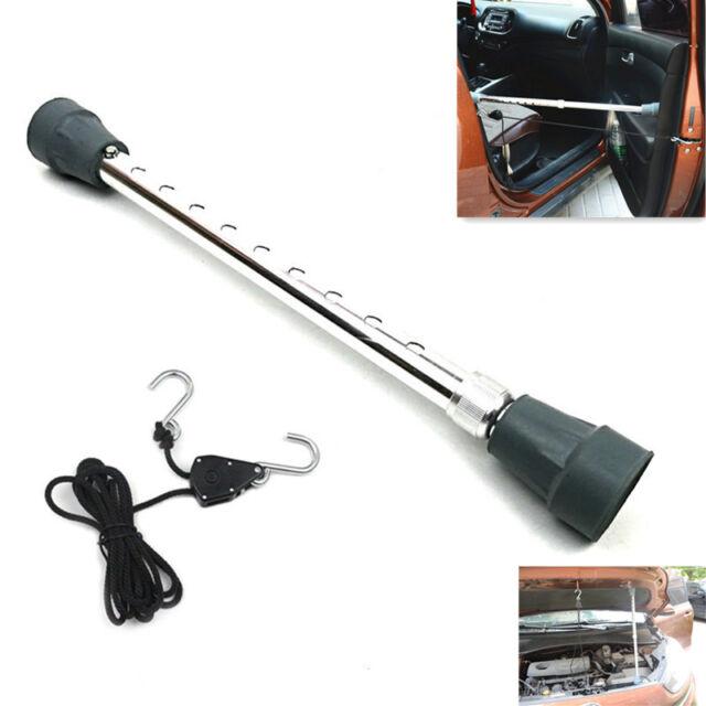 Car Bonnet Hood Support Holder Prop Telescoping Rod Tool Brown