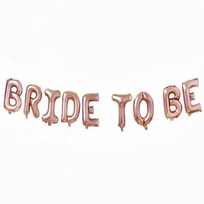 "Shiny 16/"" Foil Balloons /'TEAM BRIDE/' Rose Gold Letter Wedding Bridal Hen Party"