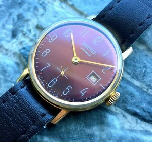 Vintage-WOSTOK-cal-2605-USSR-60s-Vostok-wrist-watch-17-Jewels-GOLD-PLATED