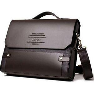 Details About Designer Men Retro Bag Leather Bags Briefcase Shoulder Business Work Laptop