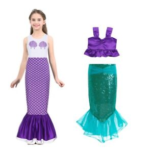 Image is loading Kids-Girls-Halloween-Mermaid-Skirt-Costume-Party-Fancy- 4d31a6ba2