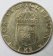 C006-60 # SWEDEN | CARL XVI GUSTAF, 1 KRONA, 1981, VF