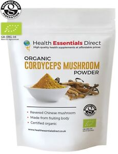Certified Organic Cordyceps Mushroom Powder (Immunity, Energy) Choose Size: