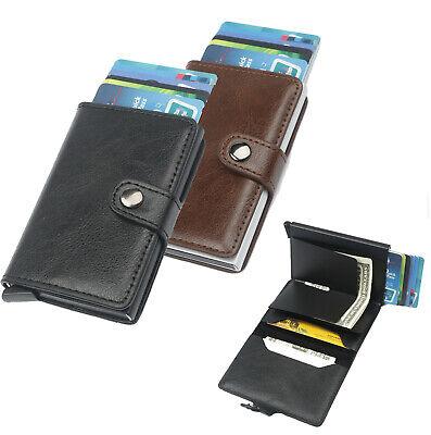 Rfid Porte Cartes Aluminum Et Simili Cuir Homme Femme Portefeuille Materiali Accuratamente Selezionati