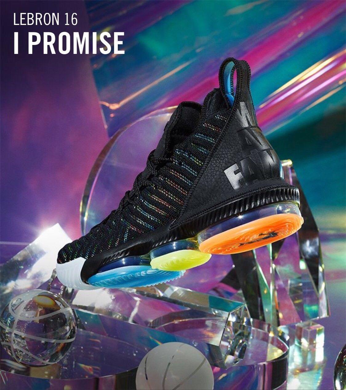 Nike Air LeBron 16 I Promise We Are Family Size SZ 14 15 XV XVI Jordan Lakers