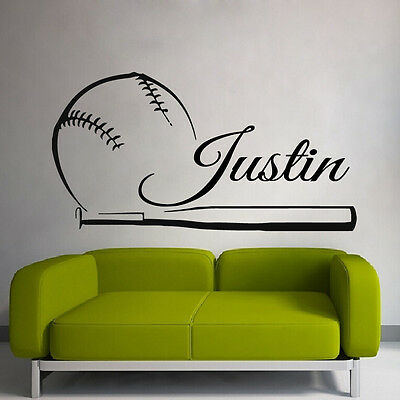 Wall Vinyl Sticker Decals Decor Baseball Kids Dorm Bedroom Pitcher Sport Z3110