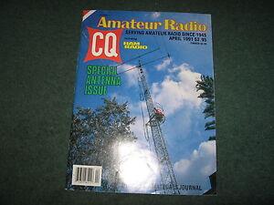 Amateur-Radio-CQ-Magazine-Antenna-Special-April-1991-Good-Condition