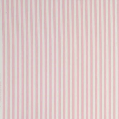 CLARKE and CLARKE 100/% COTTON CURTAIN FABRIC//CRAFT PARTY STRIPE Pink STUDIO G