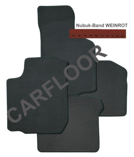 Für BMW 5er F11 Bj 10-13 Fußmatten Velours Exclusiv anthrazit Nubukband v Farben