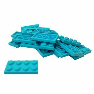 Lego 20 New Light Bluish Gray Plates Round Corner 4 x 4 Dot Pieces