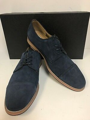 Kenneth Cole New York Begin Here Navy Perf Suede Leather Oxford