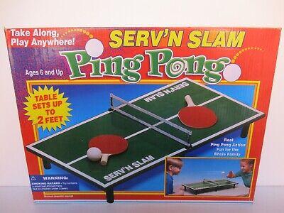 Sfizioso Tavolo Ping Pong Pieghevole + Accessori Anni '90 Luminoso A Colori