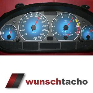 Tachoscheibe-fuer-Tacho-BMW-E46-Benziner-Blue-Nova-280-kmh