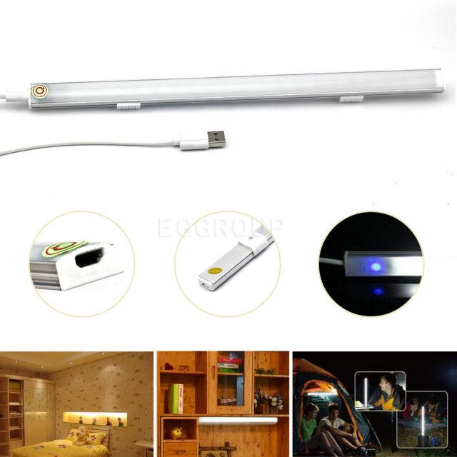 Easy Battery/USB/Plug/Recharger LED Tube Rigid Hard Strip Desk Closet Light Lamp