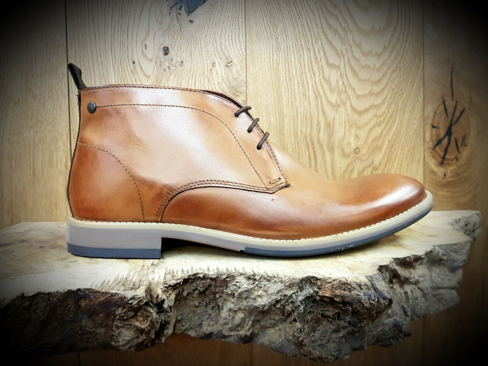 BASE LONDON    Nixon    Mens Tan Ankle Boots    NEW