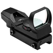 NcSTAR D4RGB Black Four Reticle Red & Green Reflex Dot Optic Rifle Sight