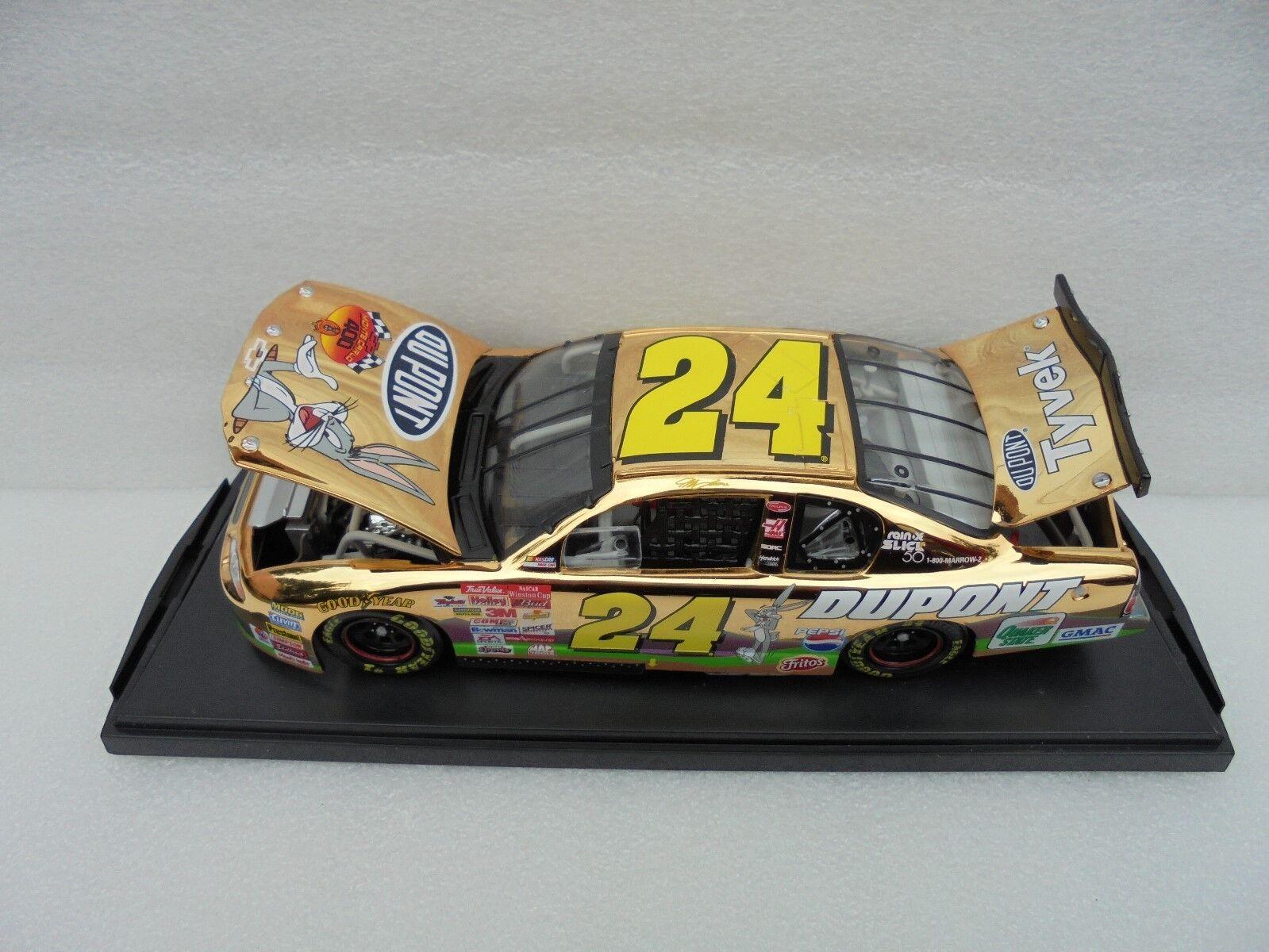 Jeff Gordon  24 DuPont Looney Tunes 2001 Chevrolet MC 24KT oro Nascar Diecast M