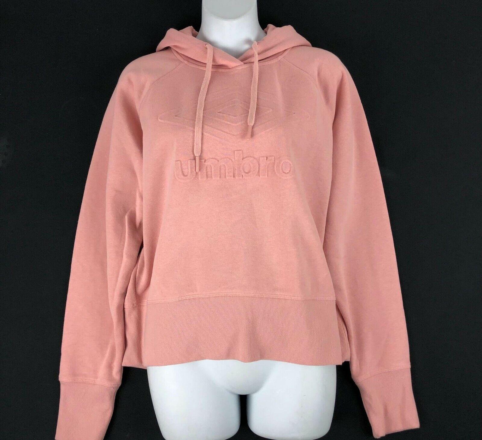 UMBRO Women's Pink Athletic Pullover Hoodie Sweatshirt Sz L