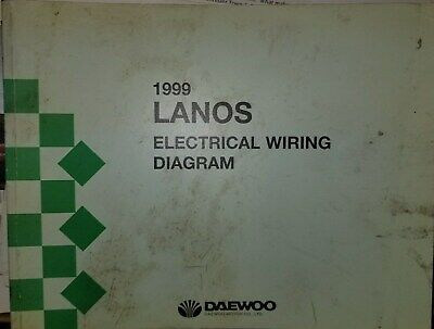 1999 Daewoo Lanos Wiring Diagram Service Manual | eBay
