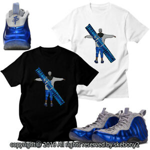 7df42bc67a81e Details about CUSTOM T SHIRT MATCHING STYLE OF Air Foamposite One Royal  Wolf FOAM 1-19-4