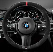 BMW OEM F30 F32 F33 F22 M Performance Alcantara Steering Wheel II Red Stripe NEW