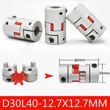 Cnc Flexible Plum Coupling 12 X 12 Jaw Spider Shaft Coupler D30 L40 12000rpm