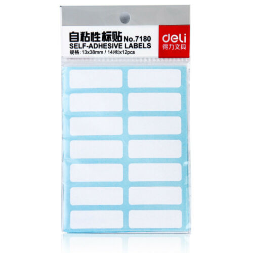 168×Self-adhesive Labels Blank Name Number Sticker Student Office Stationery San
