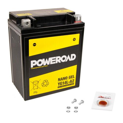 82-86 avec consigne sans entretien installation terminé Gel-Batterie HONDA CX 500 E pc06