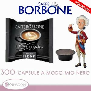 300-Capsule-Borbone-Don-Carlo-NERA-Compatibili-lavazza-A-Modo-Mio-omaggio