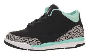 f78c5778e22474 Nike Toddler s Jordan Retro 3 (TD) NEW AUTHENTIC Black Turq 654964 ...