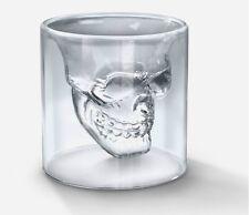 Creative Skull Head Shot Glass Fun Doomed Transparent Party Doom - US