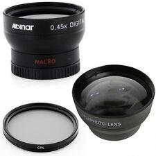 37mm Wide Angle Lens, Macro, Tele Lens, CPL for Olympus PEN E-PL1 E-PL2 E-PL3