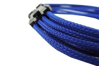 Gelid 8 Pin to 8 Pin 12V EPS Single Sleeved UV-Reactive Cable (CA-8P-03) Blue